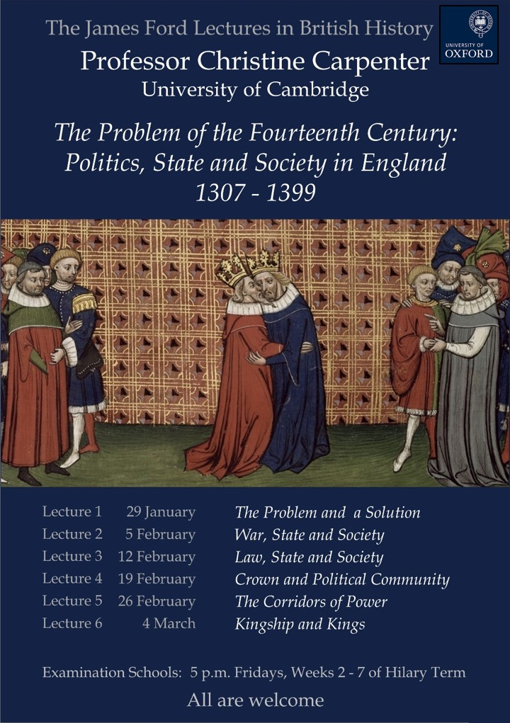 The James Ford Lectures in British History | Faculty of History