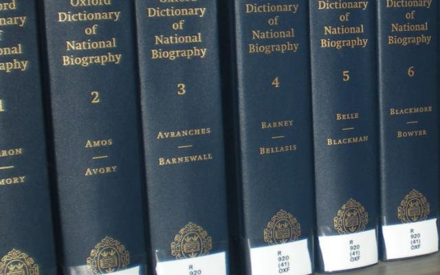 Volumes of the Oxford Dictionary of National Biography
