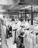 Women at work during the First World War- Munitions Production, Chilwell, Nottinghamshire, England, UK, c 1917 (Imperial War Museum)
