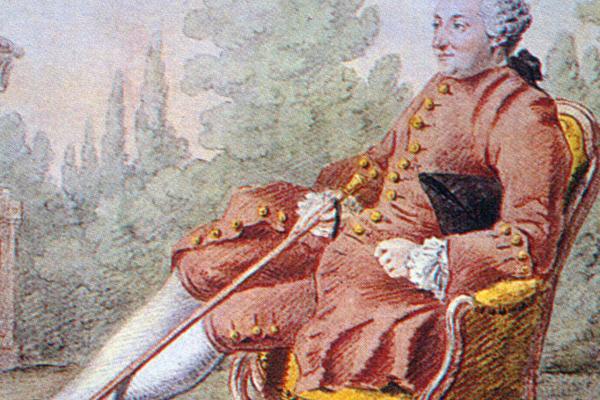 Louis Carmontelle, portrait of Paul-Henri Thiry, Baron d'Holbach (public domain)