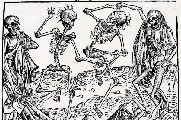 The Dance of Death (1493) by Michael Wolgemut, from the Nuremberg Chronicle of Hartmann Schedel