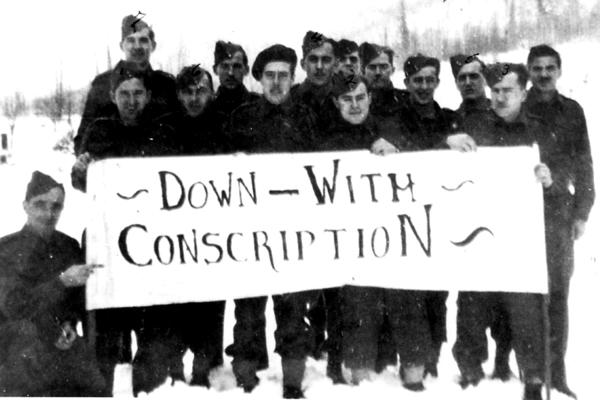 down with conscription