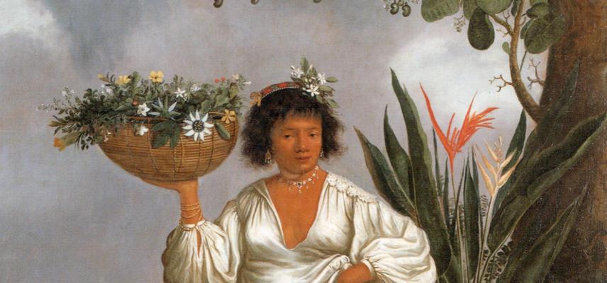 Mameluca woman under a fruiting cashew tree (1641-44)
