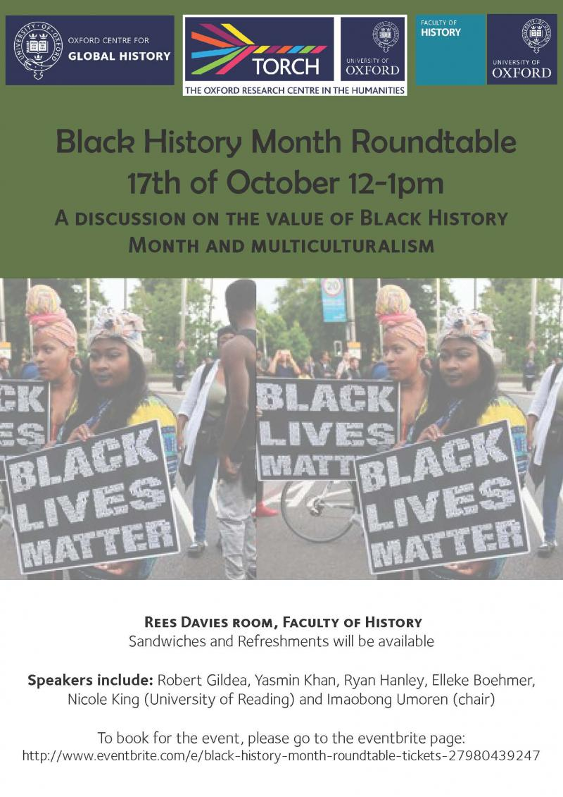 Black History Month Roundtable Poster