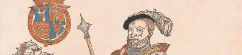 Henry VIII in a print by Hans Liefrink of Antwerp, c1545