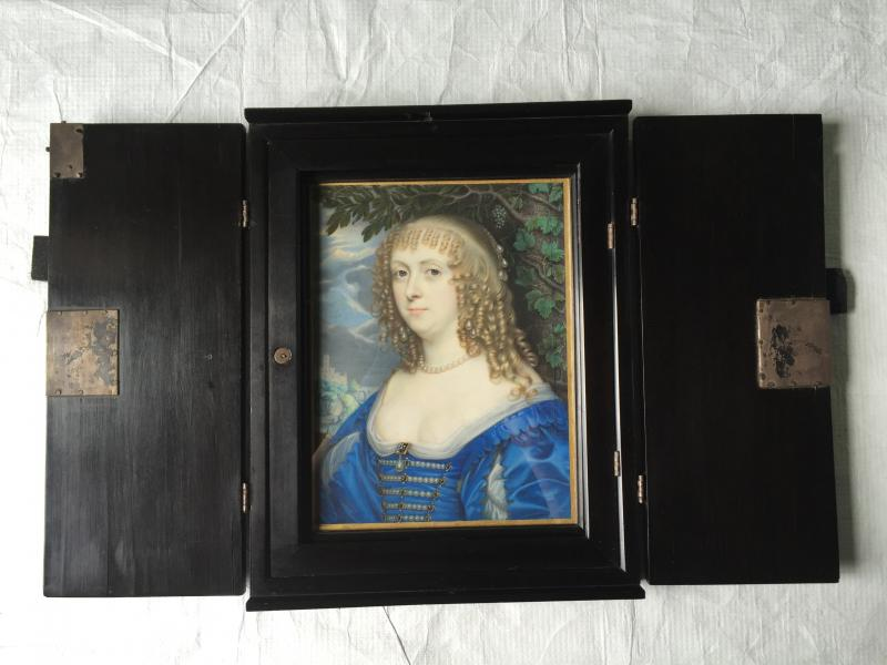 Katherine Murray, large miniature by John Hoskins (1638)