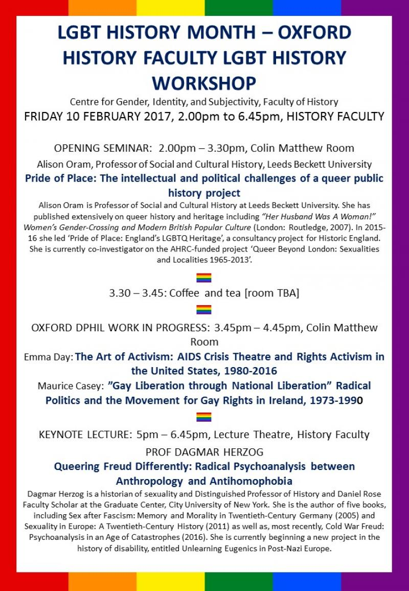 LGBT Workshop timetable poster