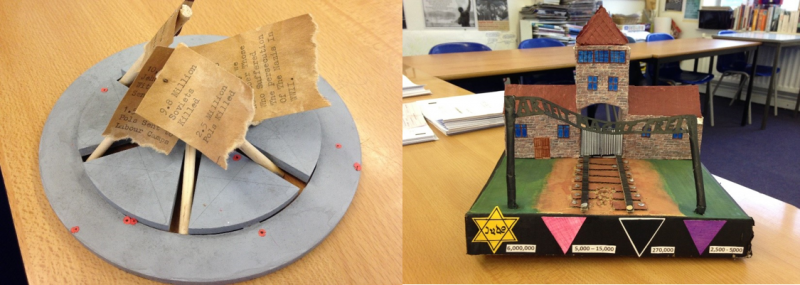 Memorials made by 15-year-old pupils as homework for History course