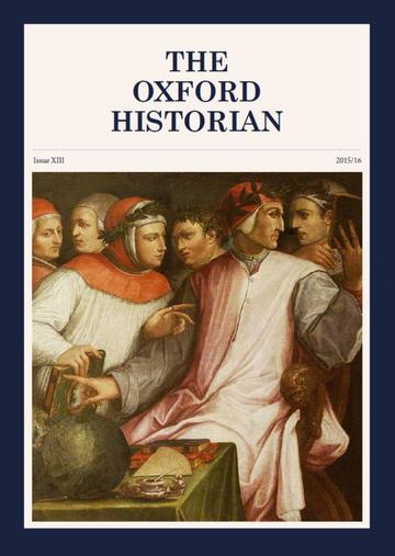 Oxford Historian Cover 2015/16