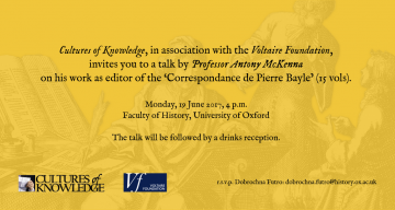 Invitation to a talk by Professor Antony McKenna