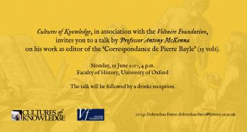 Invitation to a talk by Professor Antony McKenna
