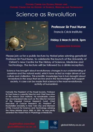 Paul Nurse Lecture