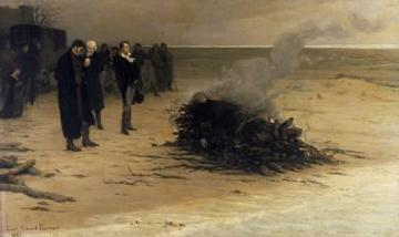 july2018  louis edouard fournier the cremation of percy bysshe shelley