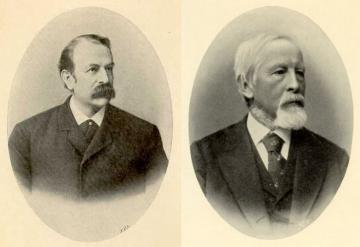 Left: Rudolf Berlin (1833-1897), Right: Adolph Kussmaul (1822-1902)