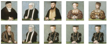 miniatures of the jagiellonian family lucas cranach the younger mid 16th century