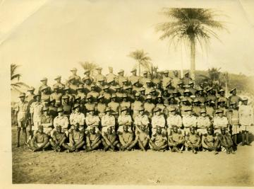 Sierra Leone, West Africa. c.1944 Military forces in uniform.