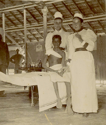 Arthur Road Hospital, the only case of Black Plague which recovered, 1896