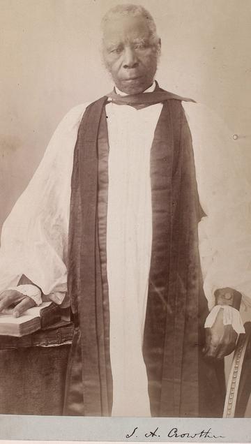 Portrait photograph of Bishop Samuel Ajayi Crowther