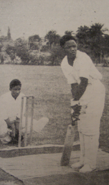 Nigerian students playing cricket at the university in 1948