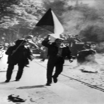 Demonstration on Wenceslas Square, Prague, 21st August 1968