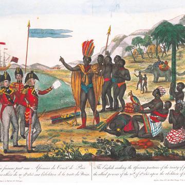 Les Anglais faisant part 1815