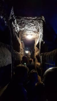 Deep in a catacomb