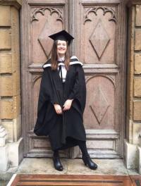 Hannah at her graduation