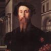 Portrait of Bartolomeo Panciatichi by Agnolo di Cosimo, known as Bronzino, 1540.  Uffizi Gallery of Florence, Italy.